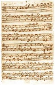 Manuscript for Bach's Fugue in Ab Major