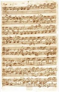 Manuscript for Bach's Fugue in Ab Major