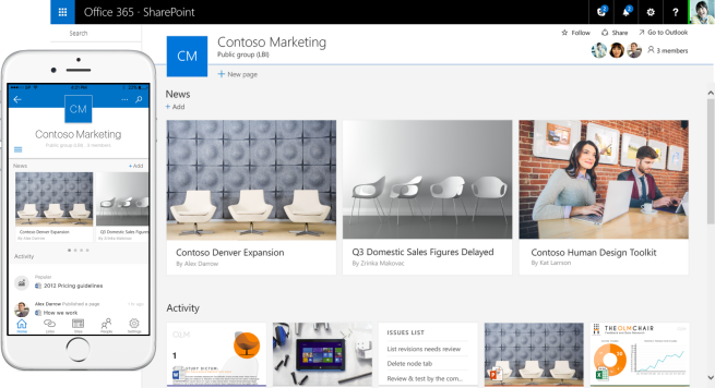 FOSP-SharePoint-team-site-and-mobile-app