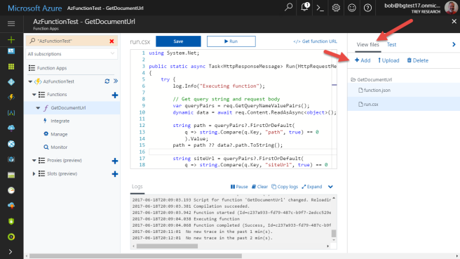 Calling SharePoint CSOM from Azure Functions (Part 3) | Bob