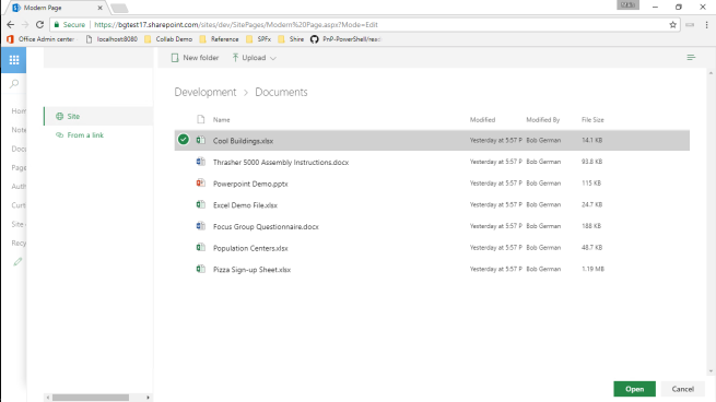 Previewing and Opening Office Files from the SharePoint Framework