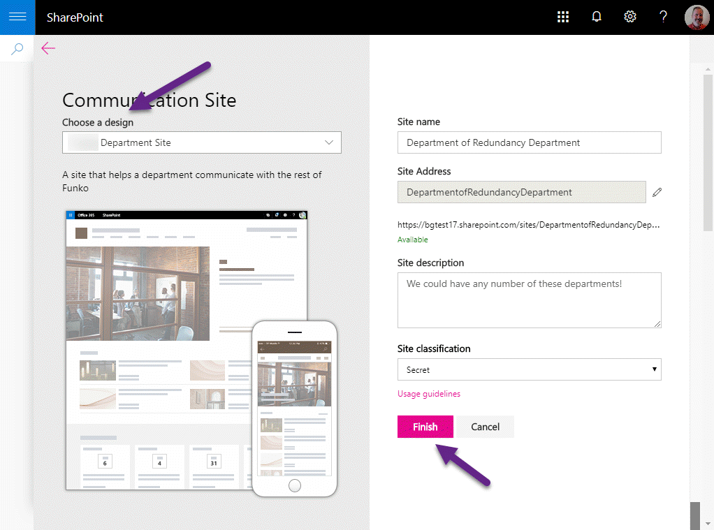 Building SharePoint Site Designs with Themes and Azure Functions